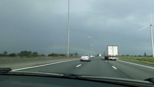 rainbow on the way home