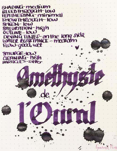 Ink Shot Review Jacques Herbin 1798 Améthyste de l'Oural 1