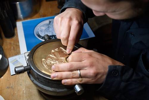 Monnaie de Paris engraver at work