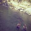 bagno nel fiume Genga