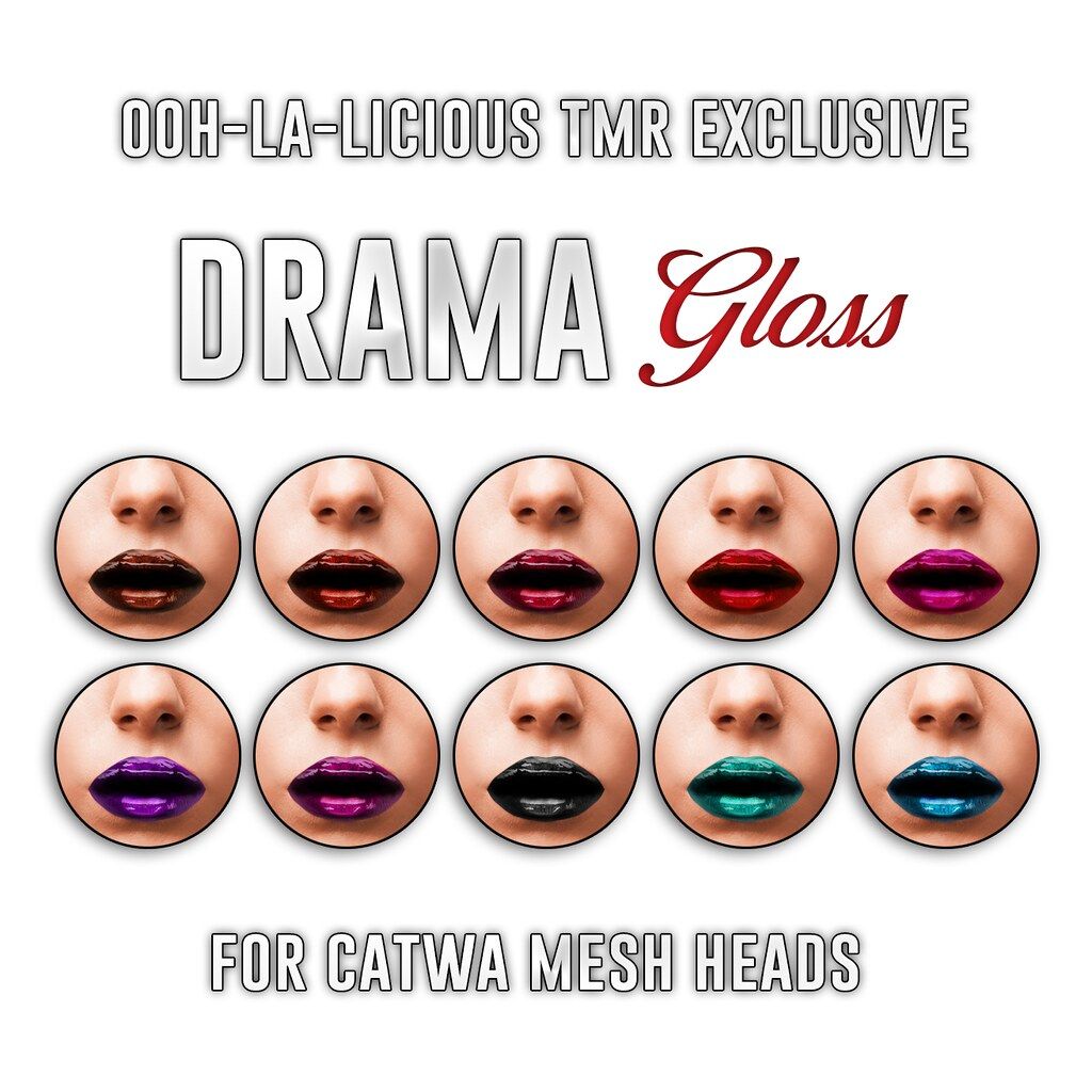 Ooh-la-licious® Drama Gloss Catwa HUD Collection - The Makeover Room Exclusive! - SecondLifeHub.com