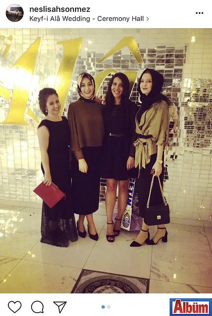 İç Mimar ve Çevre Tasarımcısı Neslişah Sönmez, yakın dostları ile birlikte Keyf-i Ala Restoran'da düzenlenen nişan törenine katıldı.