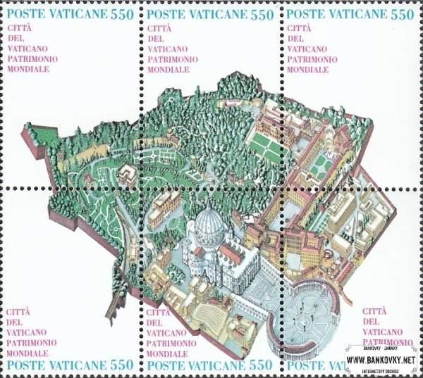 Známky Vatikán 1989 Mapa Vatikánu