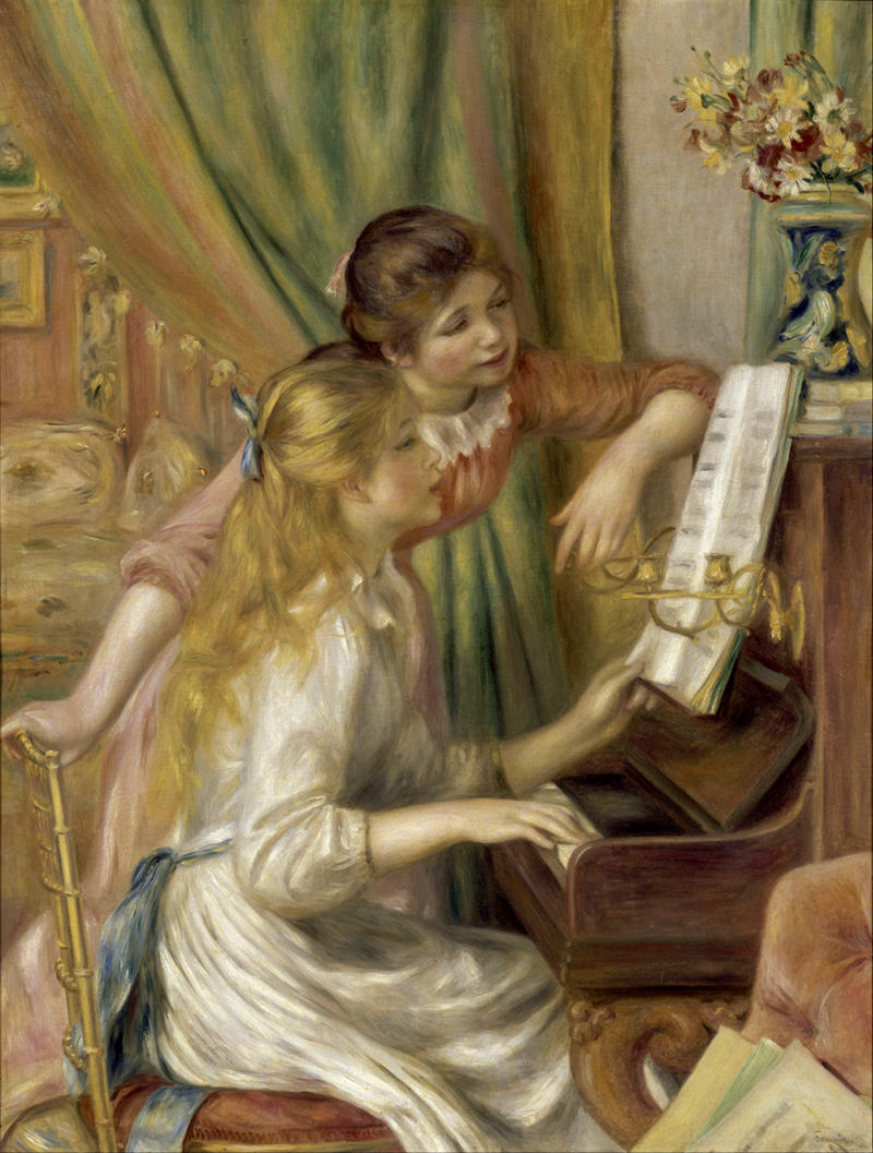Young Girls at the Piano by Pierre-Auguste Renoir, 1892