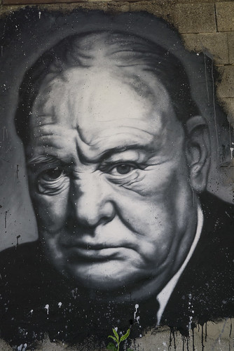 Winston Churchill, painted portrait _1100405