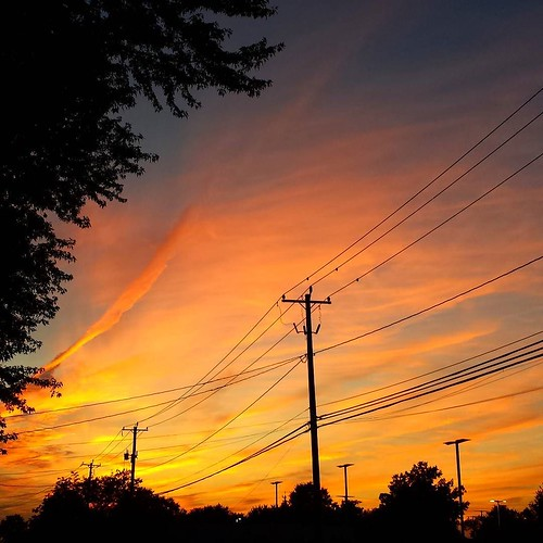 The sky tonight. #sky #clouds #dusk #nofilter