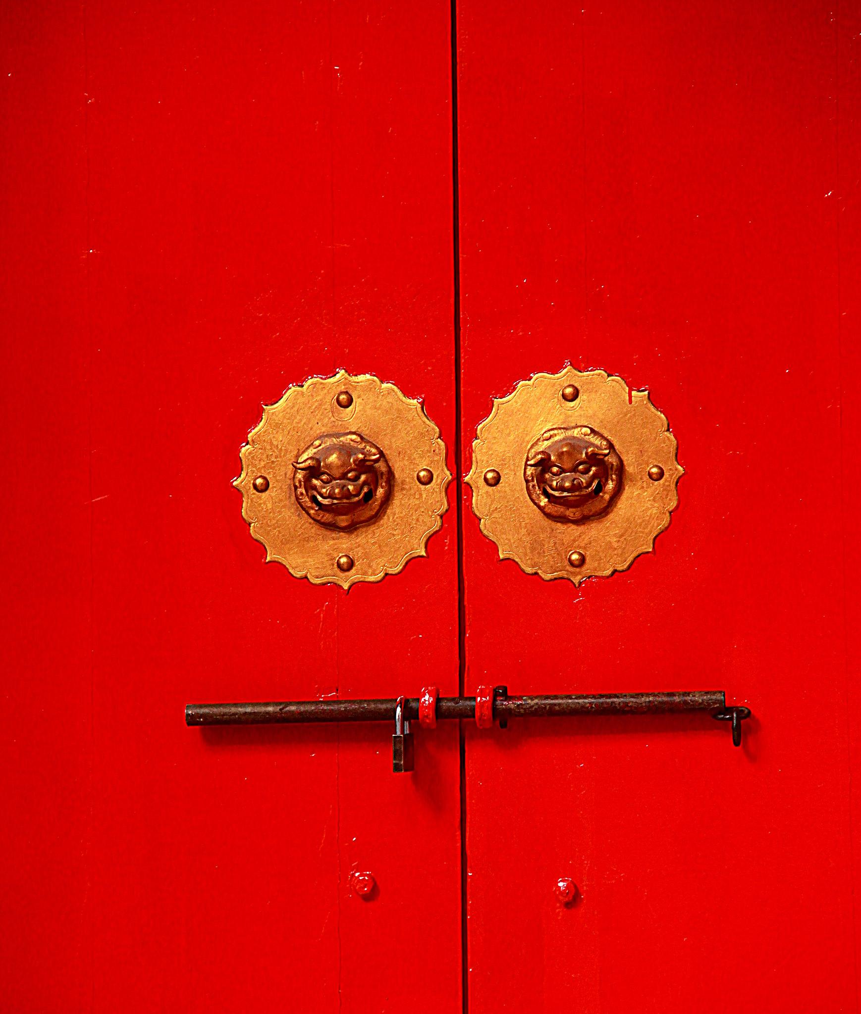 Beautiful old doors at Chinatown in Kuala Lumpur