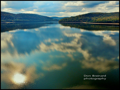 reservoir catskills catskillmountains delawareriver deposit walton drone dji phantom3standard aerial scenic reflections clouds sky color colors