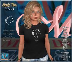 .::MD::. Equis T-shirt Black - Slink, Maitreya, Belleza, Tonic, TMP, Ebody, Fitmesh, standard sizes