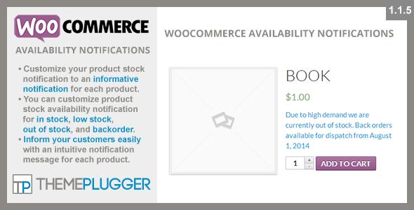 WooCommerce Availability Notifications v1.1.5