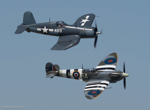 Corsair and Spitfire