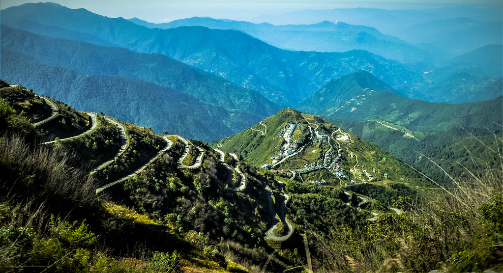 ZIG ZAG ROAD OF ZULUK, OLD SILK ROUTE, SIKKIM, INDIA