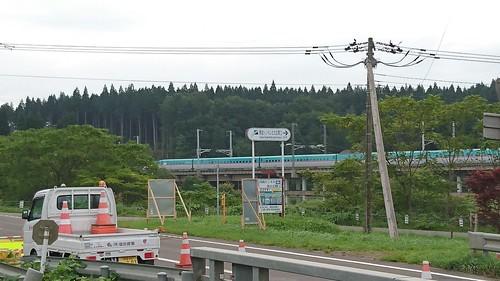 ちゃんと新幹線も見えた。