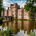 Moat and castle at Herstmonceux by Keith in Exeter