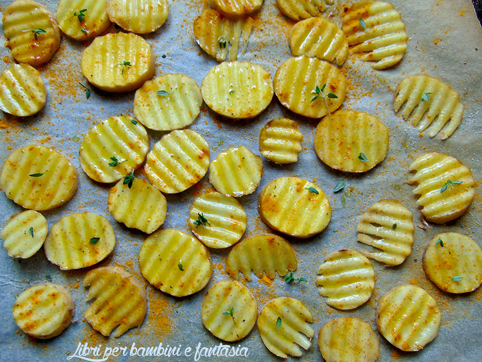 chips di patate al forno con curry e timo4r