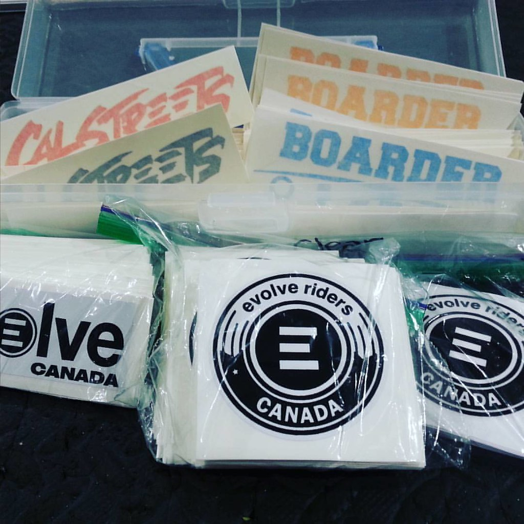New stickers arrived! #boarderlabs #calstreets #stickers