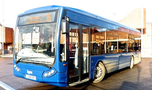YJ58 CEY 'Lynx' No. 7 Optare Tempo X1060 on 'Dennis Basford's railsroadsrunways.blogspot.co.uk