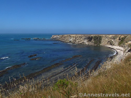 Cliffs, beaches, and rocky bars at Point Arena-Stornetta National Monument, California