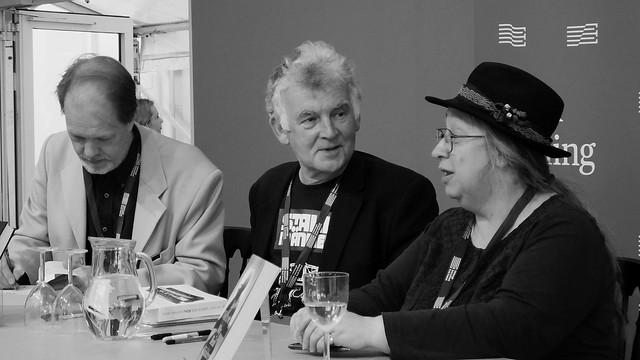 Edinburgh International Book Festival 2017 - Farah Mendlesohn Adam Roberts Jo Walton & Ken MacLeod 10