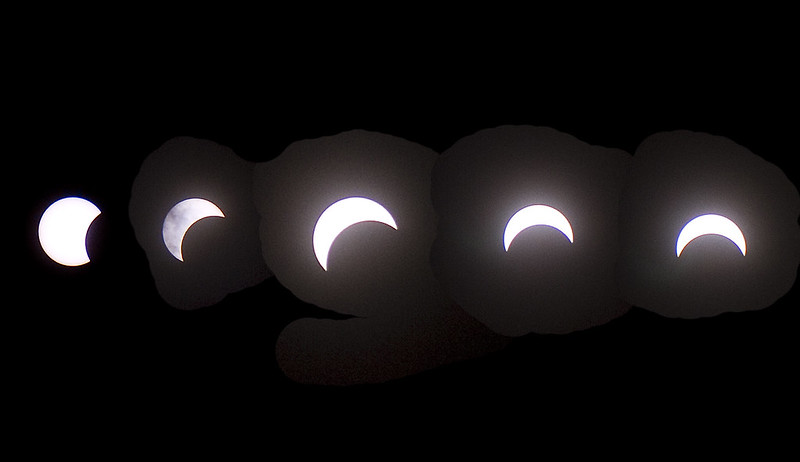 solar eclipse Aug 21 2017 - 5 stages