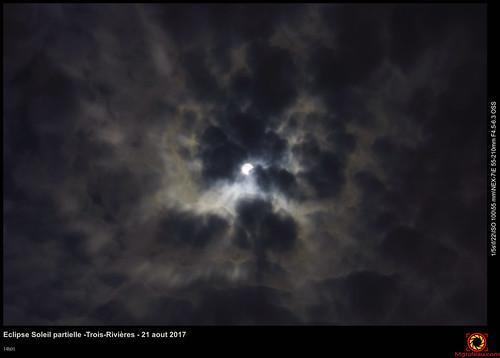 Eclipse Soleil partielle -Trois-Rivières - 21 aout 2017