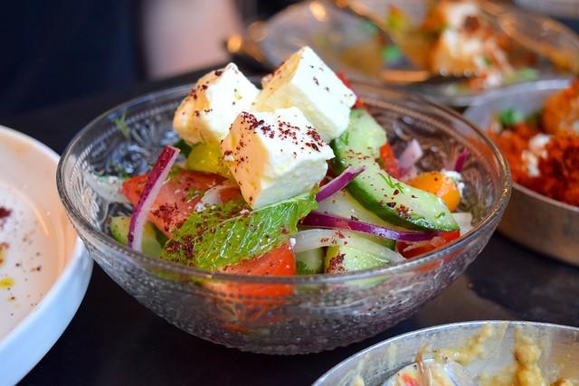 Israeli Salad at Bala Baya, Southwark | www.rachelphipps.com @rachelphipps