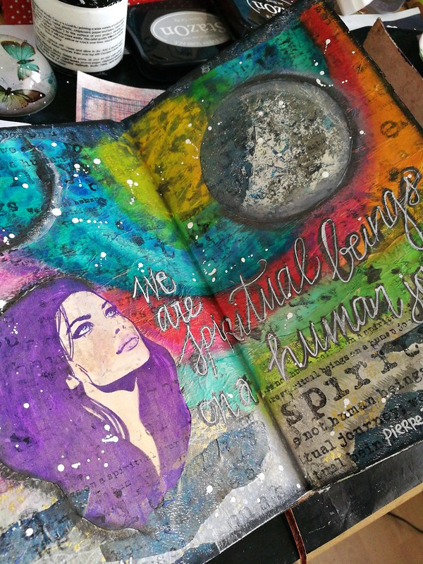 Eclipse art journal page