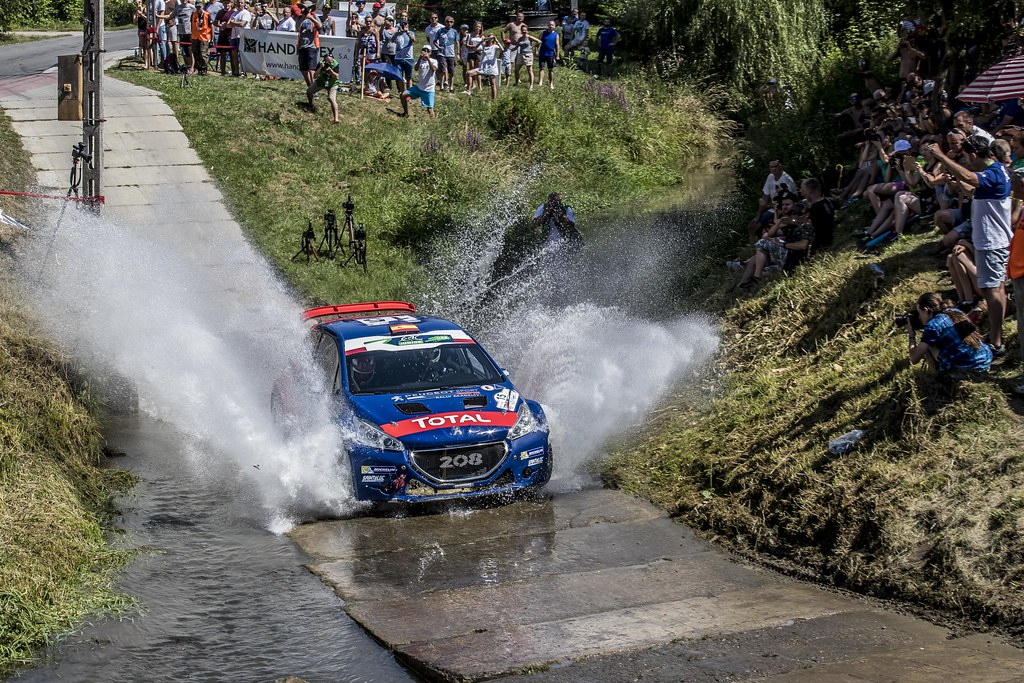 15 SUAREZ Jose Antonio (ESP) CARRERA ESTEVEZ Candido (ESP) Peugeot 208 T 16 action during the 2017 European Rally Championship Rally Rzeszowski in Poland from August 4 to 6 - Photo Gregory Lenormand / DPPI