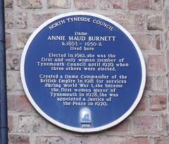 Photo of Maud Burnett blue plaque