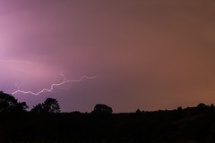 Lightning flash on Moraga openspace