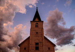 Church after sunset -  Eureka, South Dakota. Taken with the Nikon D750.