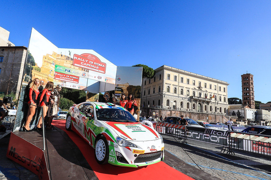 40 CIUFOLI Marco (ITA) CIUFOLI Alessandro (ITA) Toyota GT86 R3 start during the 2017 European Rally Championship ERC Rally di Roma Capitale,  from september 15 to 17 , at Fiuggi, Italia - Photo Jorge Cunha / DPPI