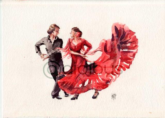 Bailadores de flamenco