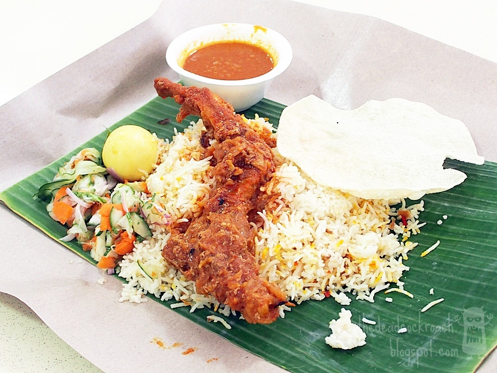 briyani, food, food review, nasi briyani, pork, pork briyani, rainbow prata, review, roti prata, singapore, wave9, woodlands, biryani,pork biryani, banana leaf pork briyani