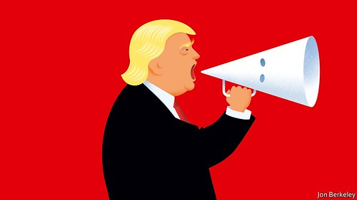 Donald Trump's white-hooded megaphone
