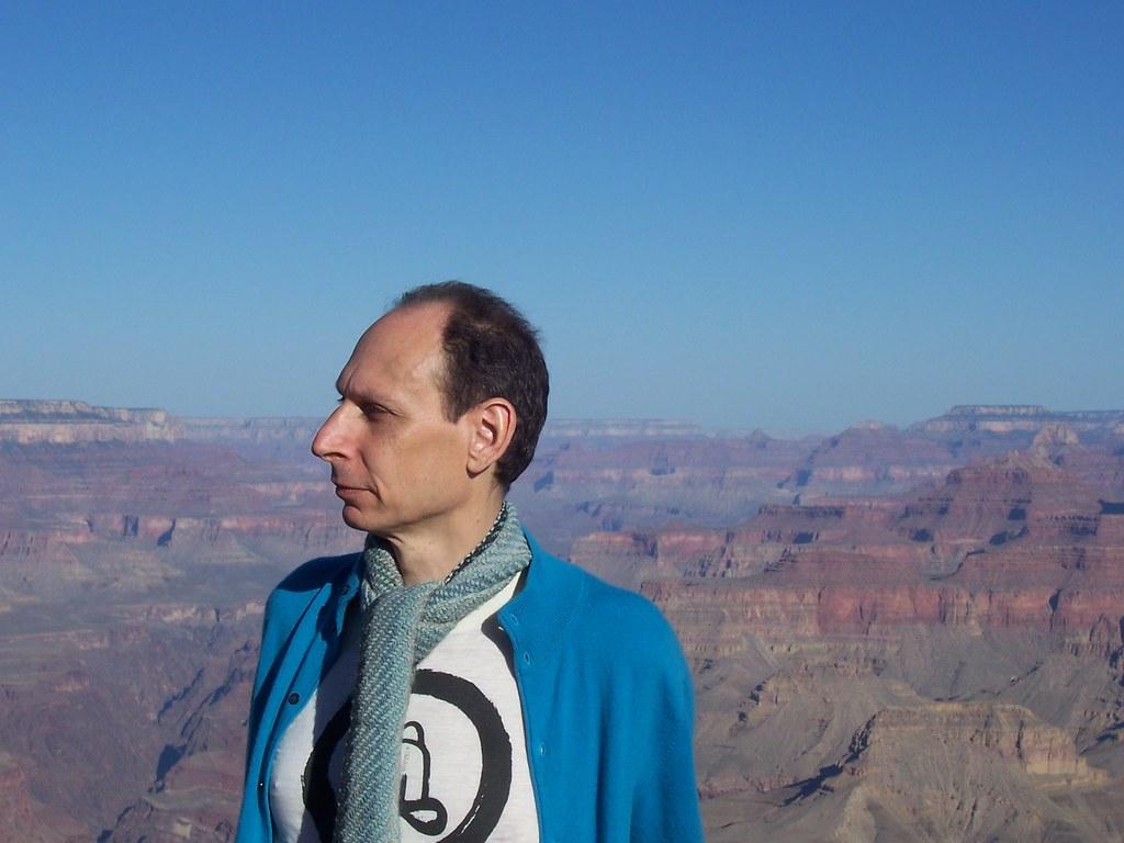Richard at Grand Canyon - good shot - Copy
