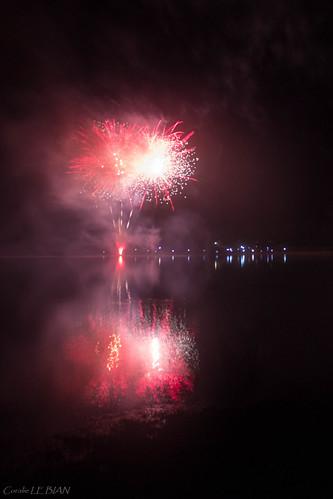 Feu au lac du Drennec 2017
