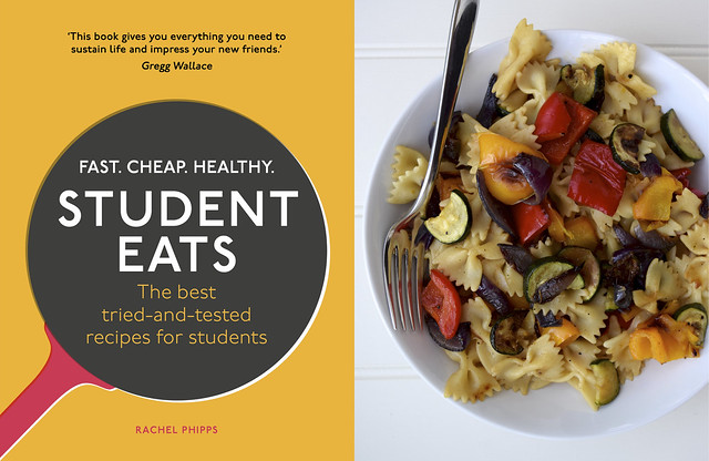 Roasted Summer Vegetable Pasta from Student Eats | www.rachelphipps.com @rachelphipps