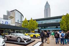 Ausstellung verschiedener Modelle von McLaren bei der IAA 2017 in Frankfurt am Main