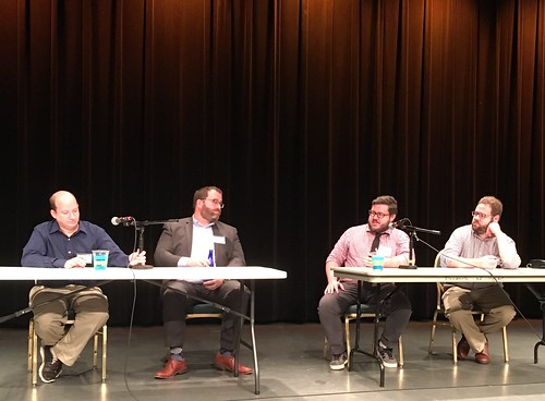 Chris Reeves, on the left, sitting on a panel discussion on Situational Awareness