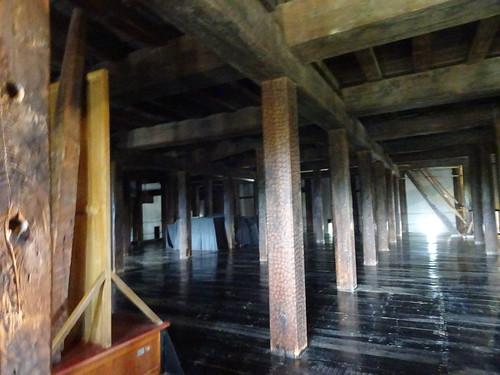 松本城の内部