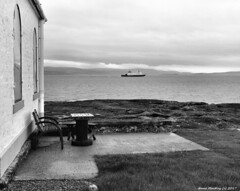 Scotland West Highlands Argyll Toward lighthouse the keepers draughts board 22 August 2017 by Anne MacKay
