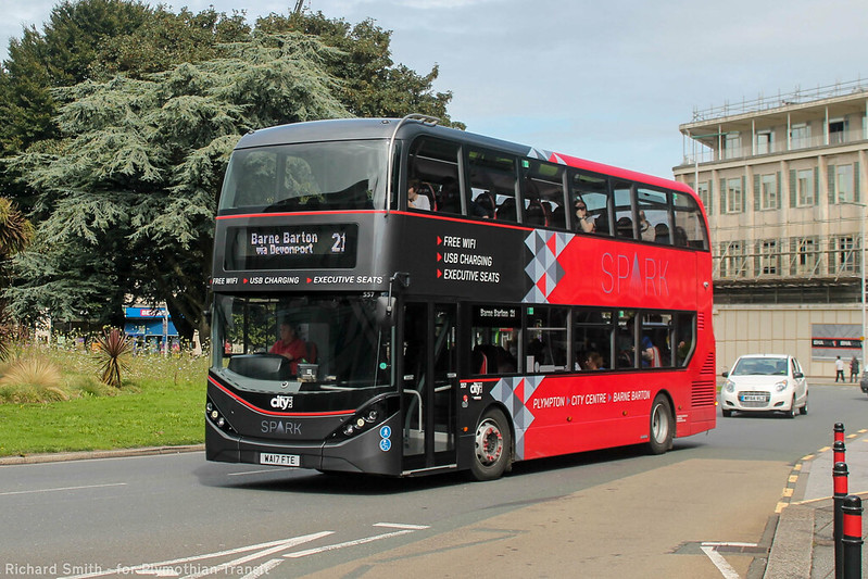 Plymouth Citybus 557 WA17FTE