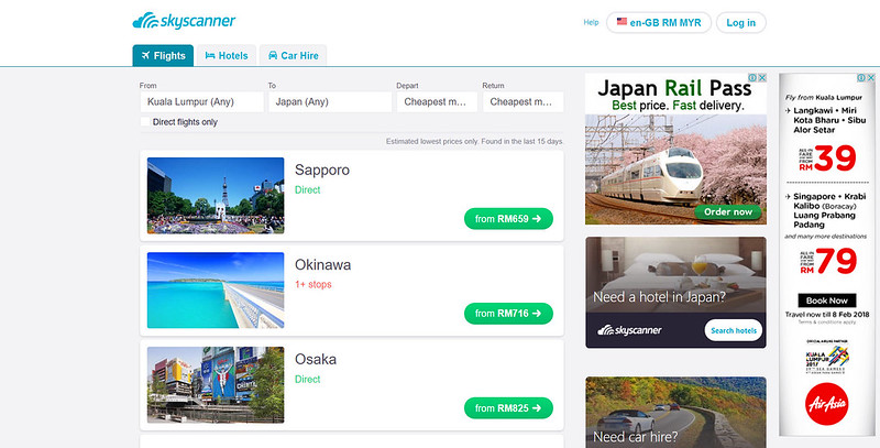 skyscanner cheapest month
