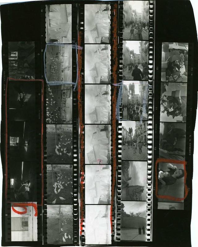 Secuencia de las fotos de Robert Frank tomadas en Toledo y en Valencia en abril de 1952