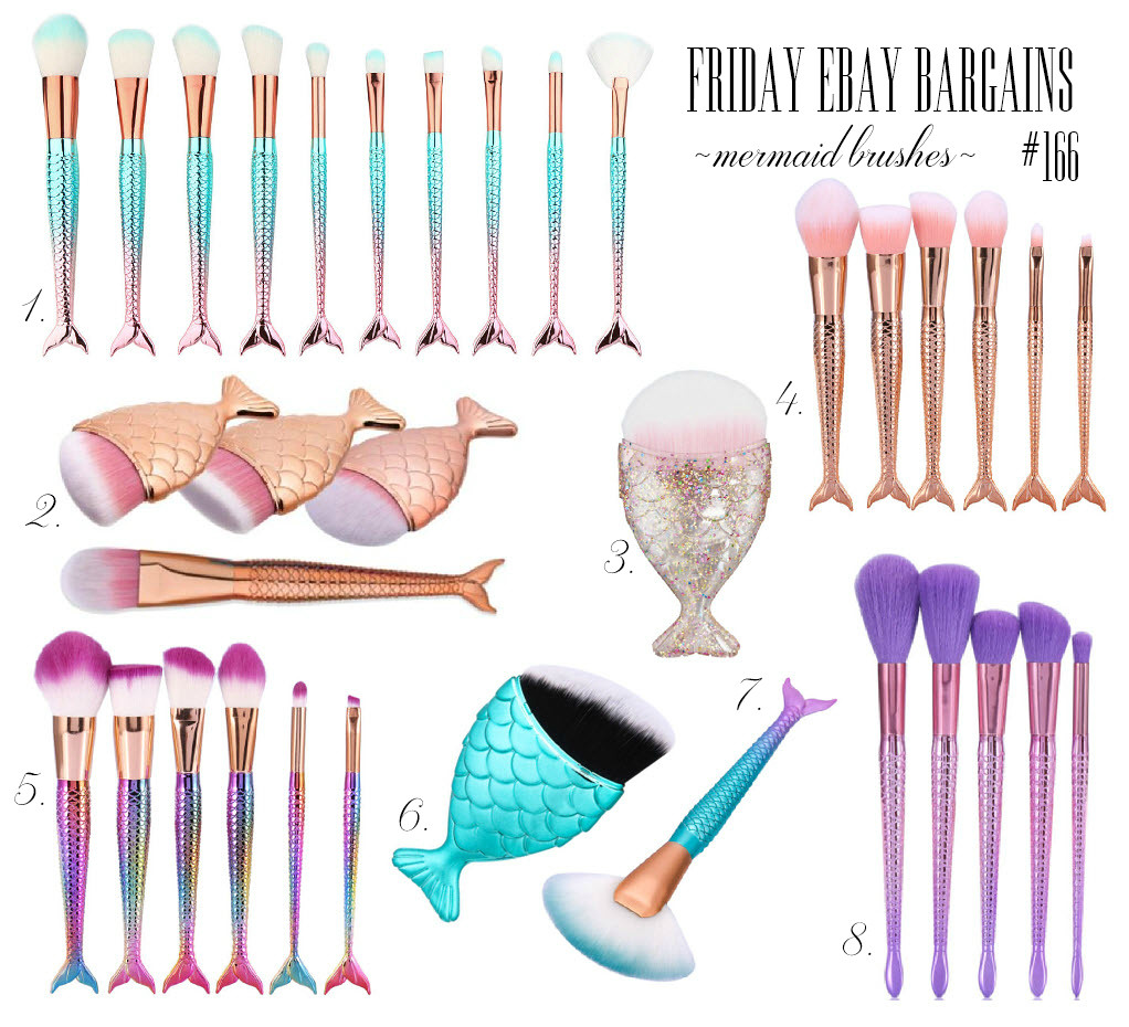 Mermaid theme brushes on Ebay
