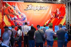 Plakat von Brawlout bei der Gamescom 2017