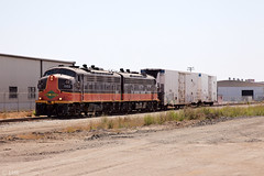 SC&MB 1102 & 1101 with short train