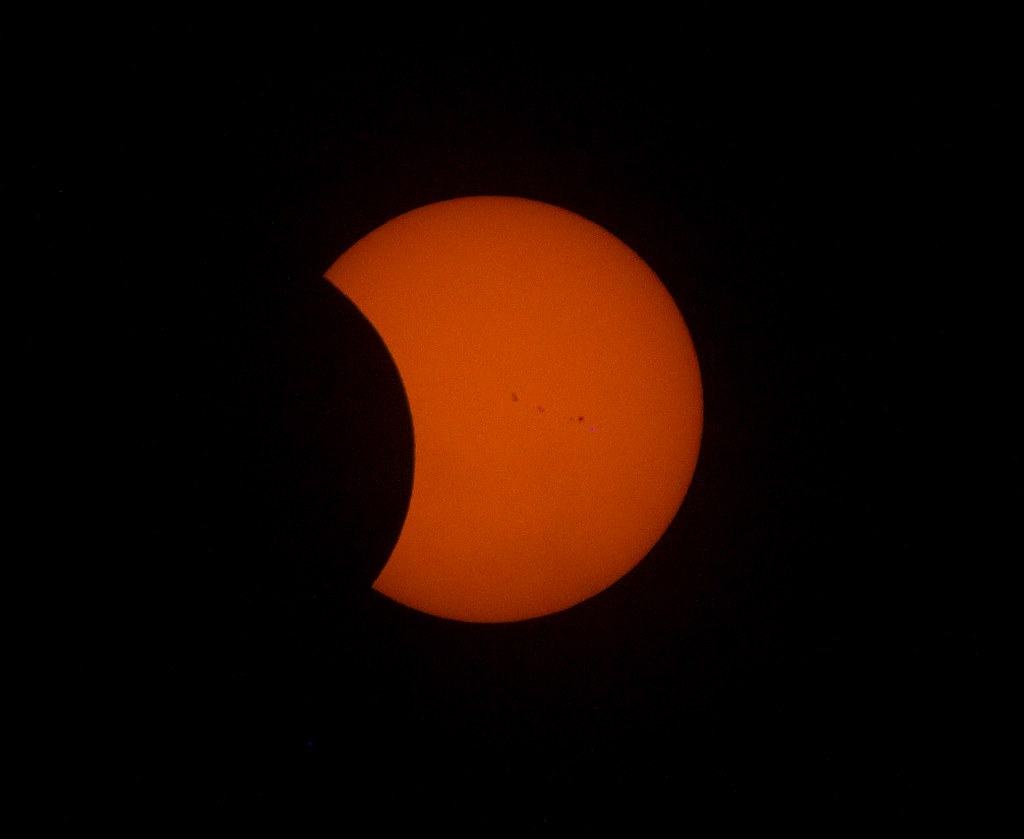 Partial solar eclipse over NYC