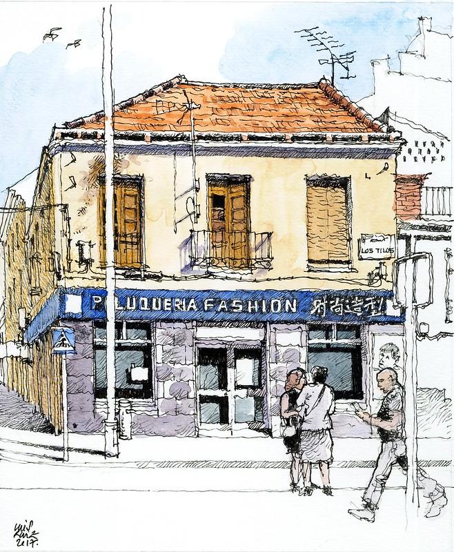 Málaga, paseo de los Tilos